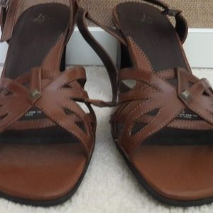 Shoes - Brown Heeled Sandals